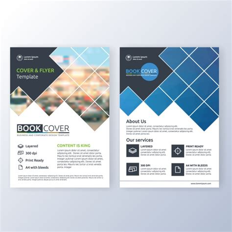leaflet design ai business brochure template vector free download