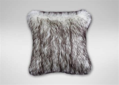 fox faux fur pillow pillows