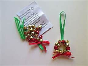 3 jingle bell wreath christmas ornament craft kits