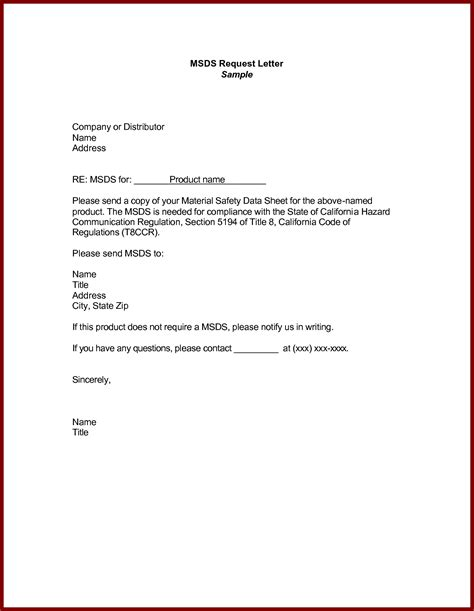 Business Letter Model business letter exle request letters free sle
