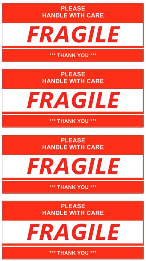 Stiker Shipping image gallery fragile template