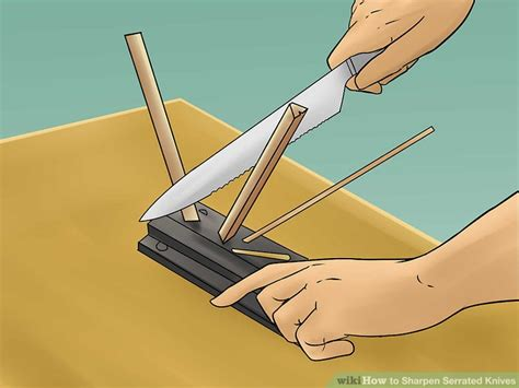 best way to sharpen a serrated knife how to sharpen serrated knives 12 steps with pictures wikihow