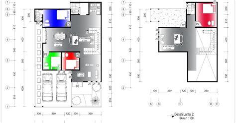 denah rumah 9 5 x 13 m lahan 10 8 x 17 m 2 lantai home design and ideas
