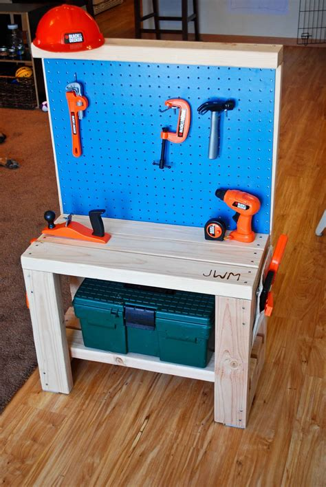 kid work bench diy kids christmas gift ideas classy clutter