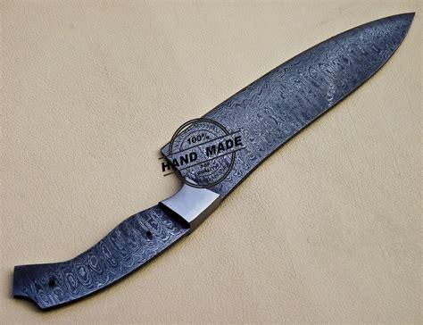 damascus kitchen blank blade knife custom handmade