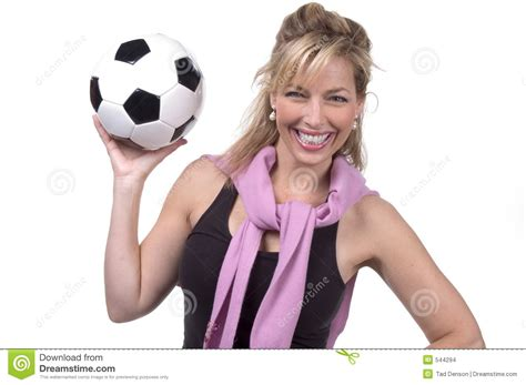 mom s 30s soccer mom stock photo image of elegant girl ball