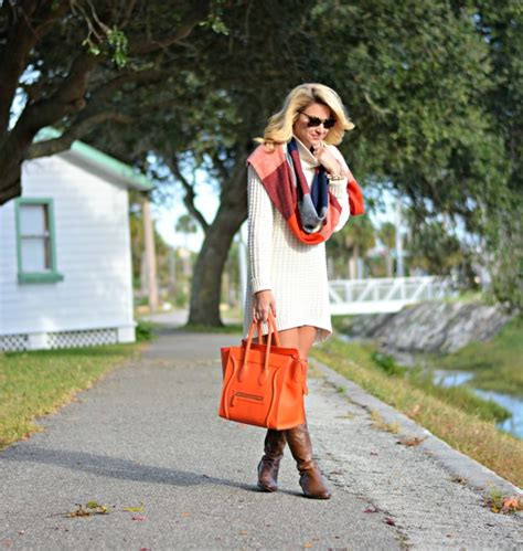 outfit holiday sweater dress boots shop dandy shop