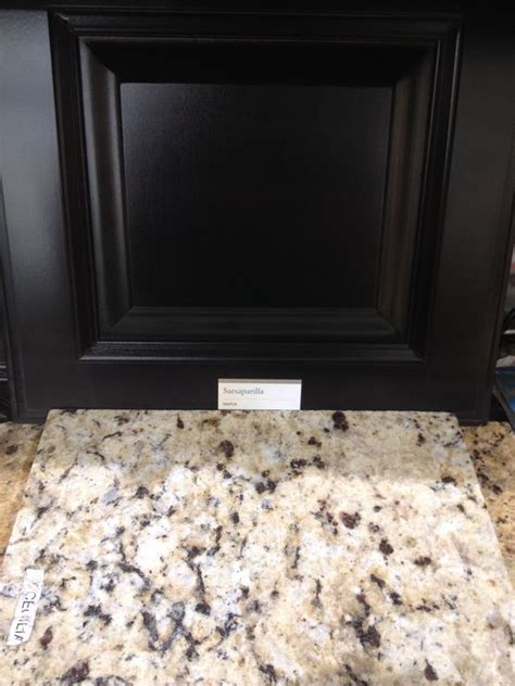 St Cecilia Light Granite Kitchens St Cecilia Granite Is A Great Match With Black Cabinets For The Home