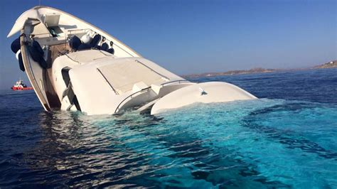 yacht greece shocking photos and video of superyacht sinking off of