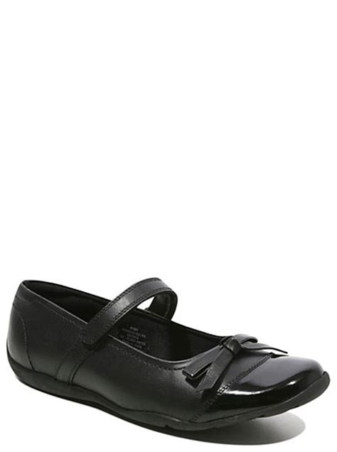 asda george shoes school leather bow detailed shoes black school