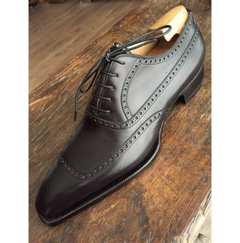 Handmade Leather Shoes Bandung - handmade mens black formal shoes black brogue tuxedo