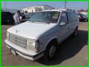 1988 Dodge Caravan 1988 Dodge Grand Caravan Le Used 3l V6 12v Automatic No