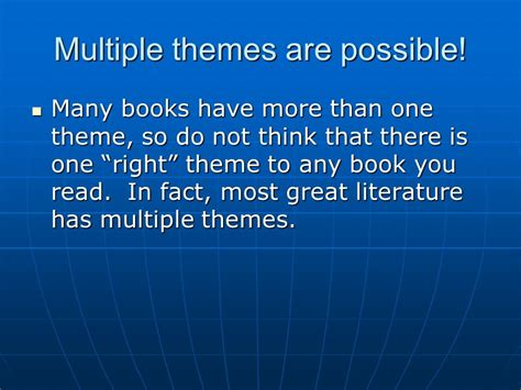 possible themes in literature list theme definition of theme elements of theme how to find