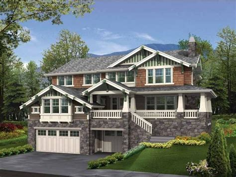hillside walkout basement house plans walkout basement house photos