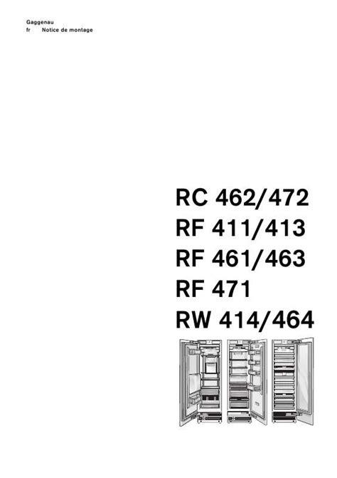 Mode d'emploi GAGGENAU RC472200 - Trouver une solution à