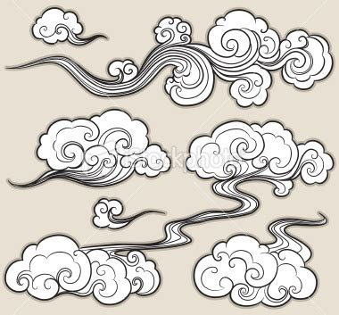 cartoon cloud tattoo a set of cloud graphics in oriental style google images