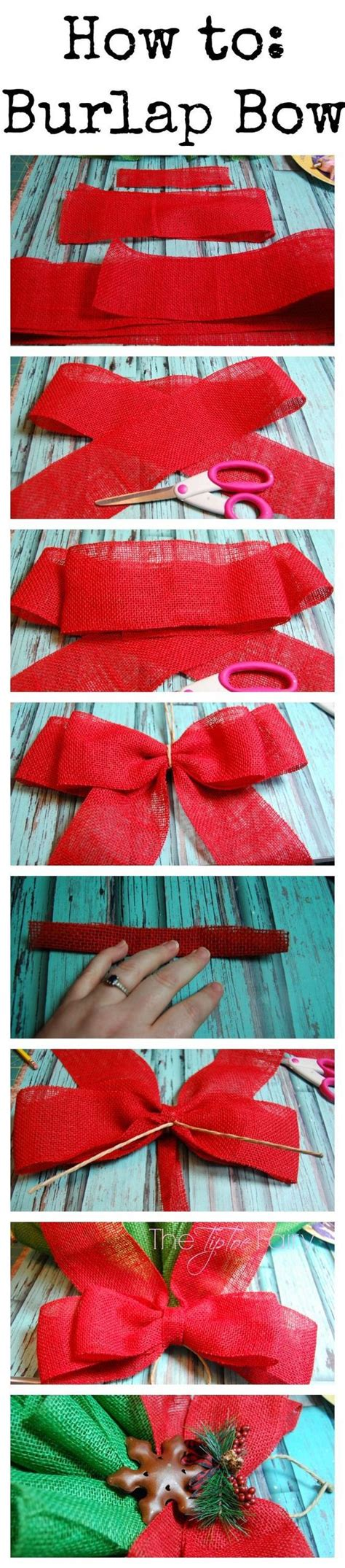burlap bows burlap and how to make on pinterest
