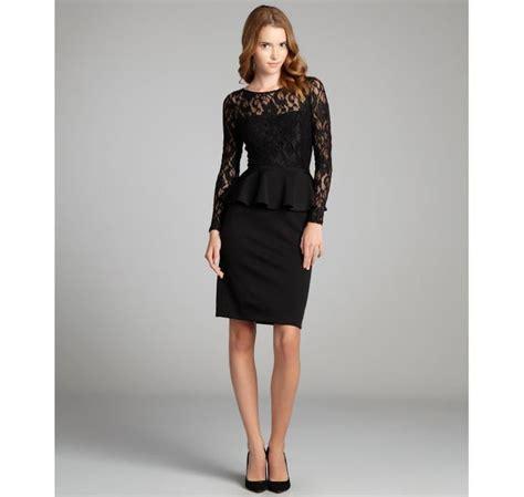 Bj 7826 Black Lace Dress hayden black lace bodice stretch knit peplum dress 120 80