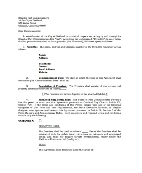 informal rental agreement template 28 images 5