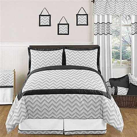 zig zag comforter sweet jojo designs zig zag comforter set in grey black
