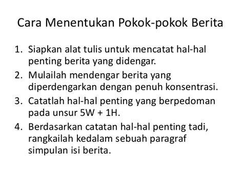 format berita lelayu bahasa indonesia contoh berita investigation news ndang kerjo
