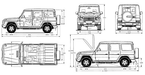 G Wagon Sketches by Blueprint Mercedes Clase G