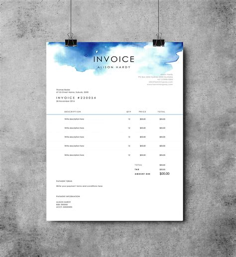 design business invoice invoice template receipt ms word template instant