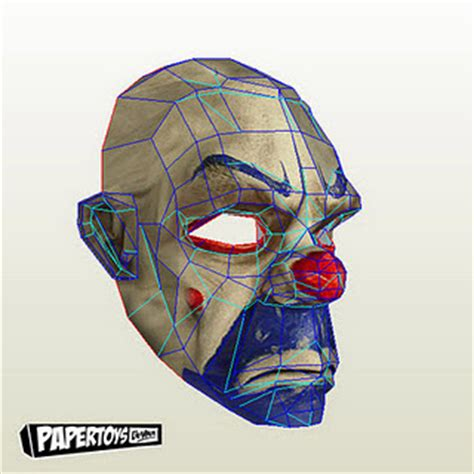 Papercraft Batman Mask - the joker mask papercraft papercraft