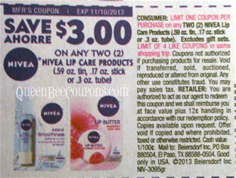 Nivea Lip Balm Printable Coupon bee coupons savings