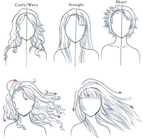 doodle drawing guide how to draw hair step by step image guides