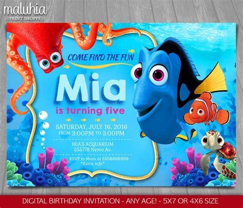 Finding Dory Invitation Finding Nemo Dory Invite Disney Finding Dory Birthday Invitations Template