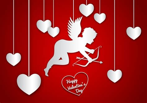valentines day cupid pictures happy day cupid background free vector in adobe