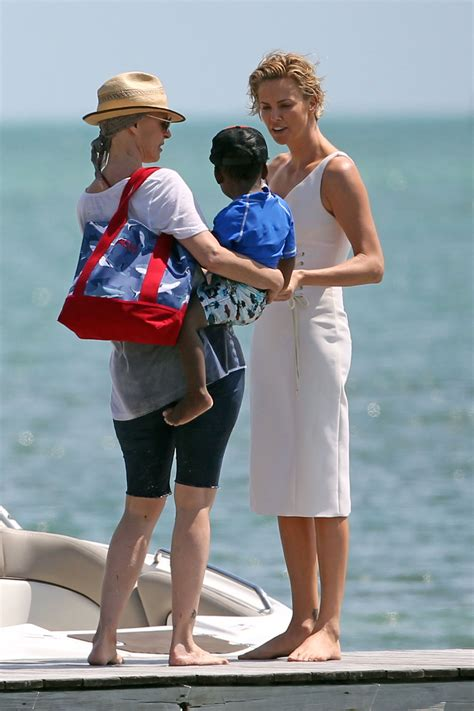 Miami Jackson Gets It charlize theron gets a visit from jackson while on a
