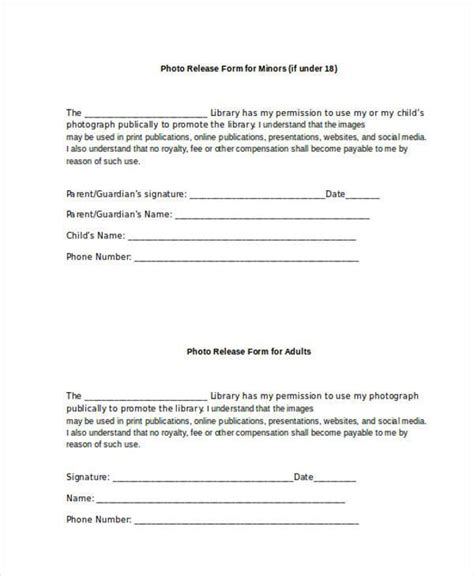 Social Media Release Form Deploying The Social Media Consent Form In Your Course Simple Photo Photo Release Form For Minors Template