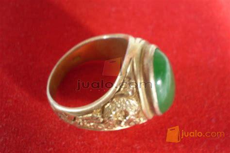 Giok Asli Tiongkok koleksi cincin emas ukir 12 gram berbatu giok asli