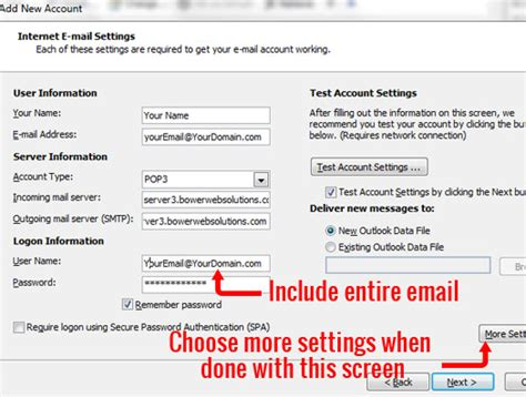 configure xp mail server configure email in outlook outlook express bower web