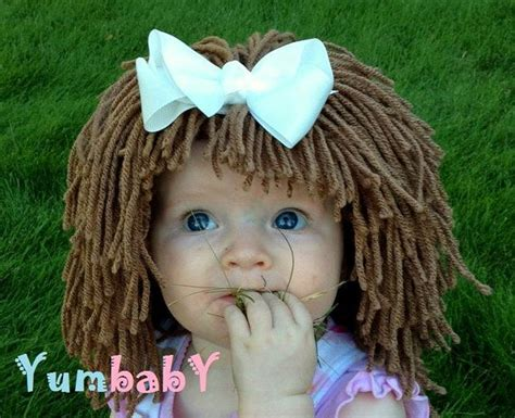 free crochet cabbage patch hair baby hat 1000 images about knit a wig on pinterest lalaloopsy