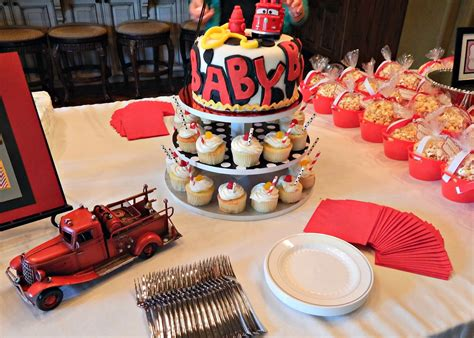 Firefighter Baby Shower by Barksdale Blessings Firefighter Baby Shower