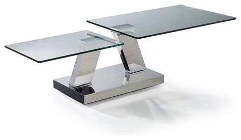 modern glass swivel top coffee table loreto modern