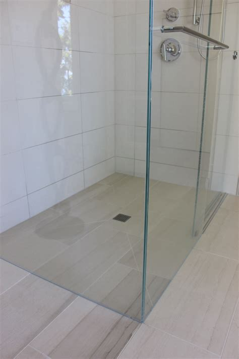 curbless shower curbless shower pan home run solutions