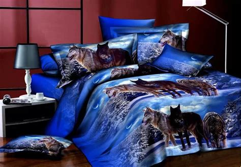 Wolf Bed Set by Aliexpress Buy Personality Bedding Set 4pcs