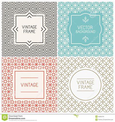 design label simple vector mono line graphic design templates stock vector