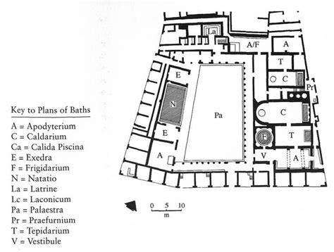 baths of caracalla floor plan 076 roman architecture plan of stabian baths in pompeii