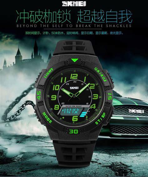 Skmei Ad1117 Sport Water Resistant 50m skmei jam tangan sporty pria ad1065 orange