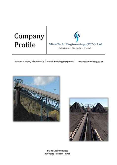 minetech engineering original company profile