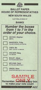 tvnz gets australia's electoral system and ballot paper