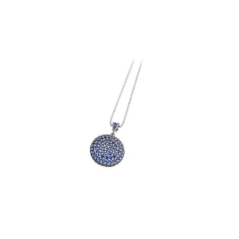 necklace in silver with cubic zirconia