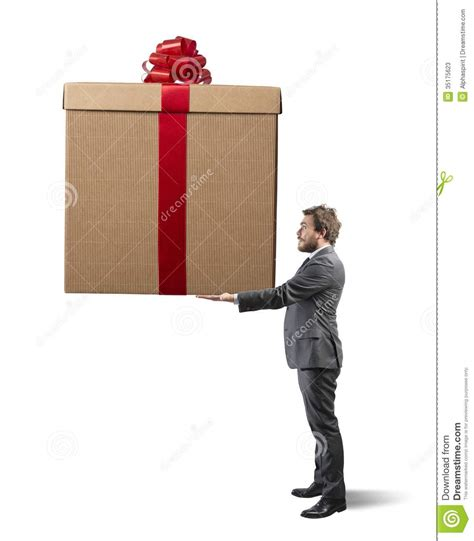 bid stock big present stock photos image 35175623