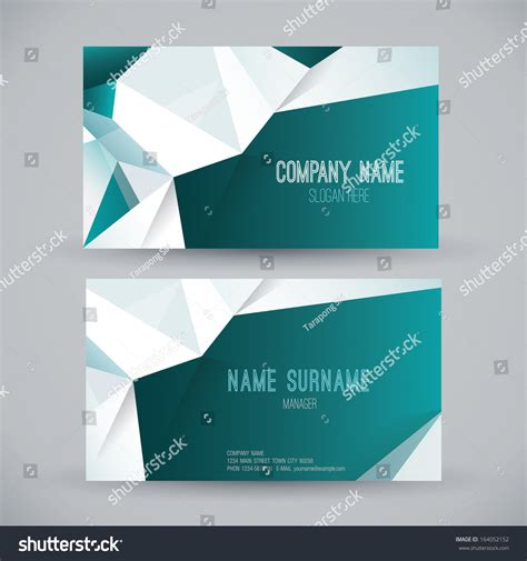 card name template vector business card template name card abstract background