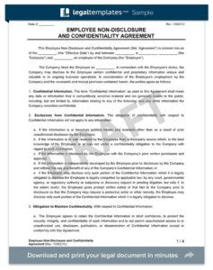 disclosure agreement template create   nda form legal templates